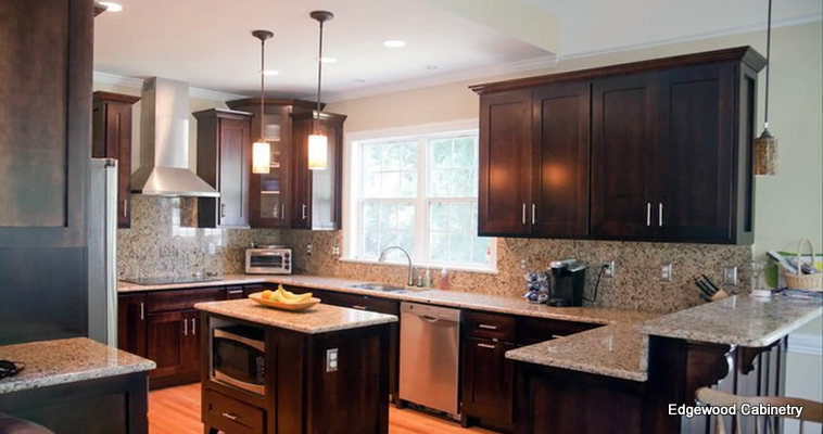 Multi level cabinets edgewood cabinetry for Kitchen cabinets quality levels