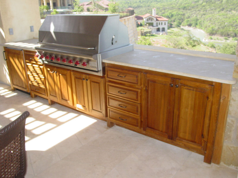 teak wood kitchen cabinets outdoor kitchens edgewood cabinetry 27122