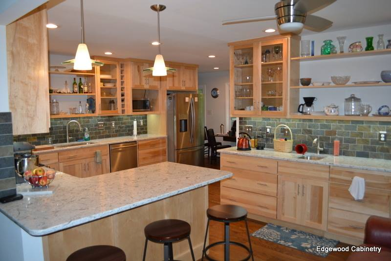 maple transitional kitchen-edgewood custom cabinetry