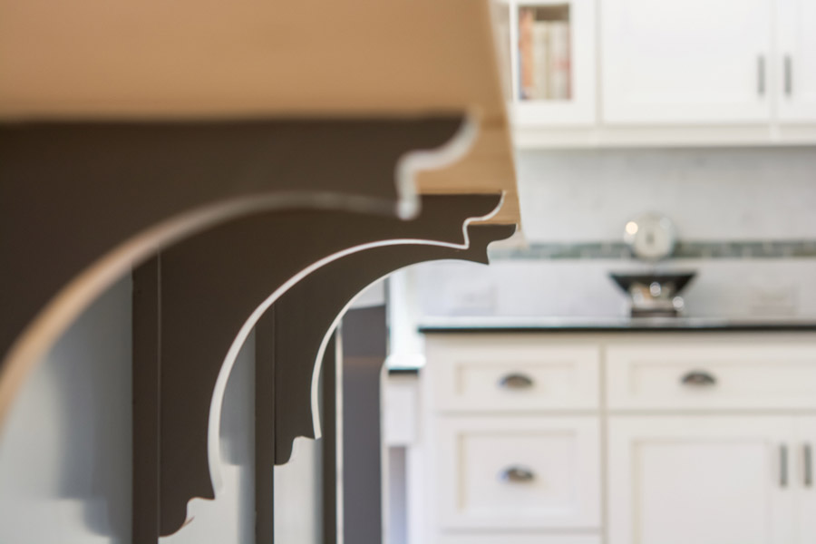 corbel bar brackets-edgewood custom cabinetry-raleigh nc